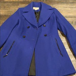 Michael Kors blue pea coat size small